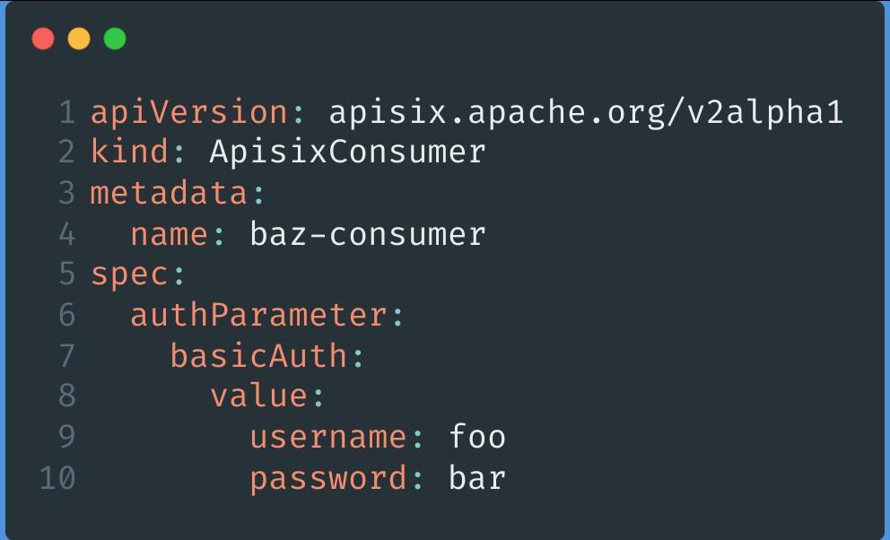 APISIX Consumer